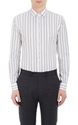Brooklyn Tailors Pique Weave Button Front Shirt White