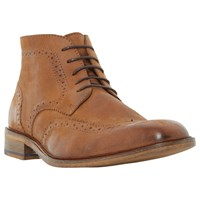 Bertie Canister Brogue Boots Tan