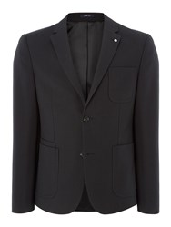 Peter Werth Men's Glen Zig Zag Cotton Blazer Black