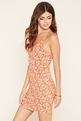 Forever 21 Floral Cutout Cami Dress