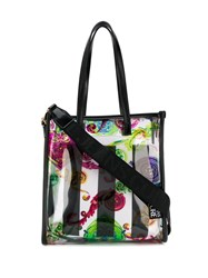 Versace Jeans Couture Sheer Baroque Print Tote Bag 60