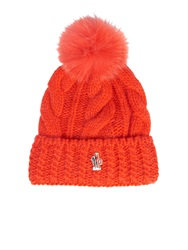 Moncler Grenoble Mink Fur Pompom Knitted Hat