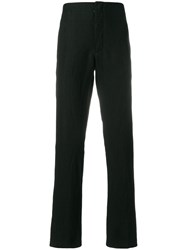 Forme D'expression Straight Leg Trousers Cotton Ramie Polyamide Virgin Wool Black