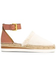 See By Chloe Ankle Strap Espadrilles Nude Neutrals