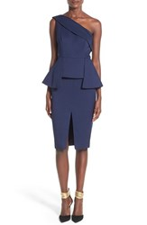 C Meo Collective Women's C Meo 'Stereo Hearts' One Shoulder Peplum Dress