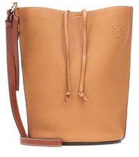 Loewe Gate Leather Bucket Bag Brown