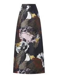 Linea Bene Floral Maxi Skirt Multi Coloured