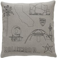 K Studio La Pillow Small 18 X 18 Gray