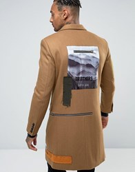 Sixth June Overcoat With Back Patches Camel Tan