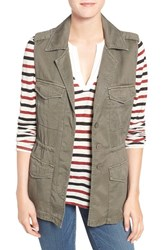 Sanctuary Women's 'Gigi' Twill Utility Vest Military