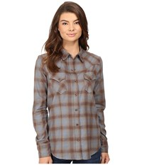 Stetson Steal Blue Plaid Western Shirt Blue Women's Clothing