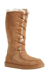 Women's Ugg Australia 'Appalachian' Water Resistant Lace Up Tall Boot Wide Calf 1' Heel