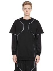 Dirk Bikkembergs Db1 Techno And Stretch Cotton Sweatshirt