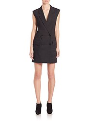 Dkny Double Breasted Short Jumpsuit Black