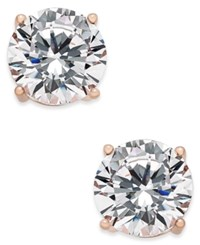 Joan Boyce Cubic Zirconia Stud Earrings Rose Gold