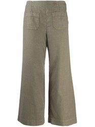 Mr And Mrs Italy Cropped Trousers Green