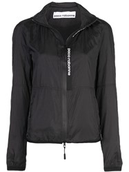 Paco Rabanne Zipped Fitted Jacket Black