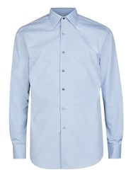 Aquascutum London Chinnock Mini Check Shirt Blue