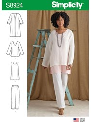 Simplicity 'S Tunic Tops And Trousers Sewing Pattern 8924