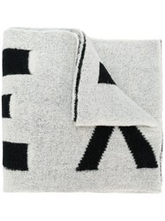 Faith Connexion Oversized Logo Knitted Scarf White