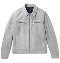 Solid Homme Suede Jacket Gray