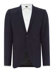 Selected Mylo Don Plain Weave Suit Jacket Navy