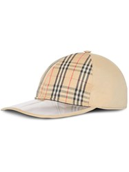 Burberry 1983 Check Baseball Cap Nude And Neutrals