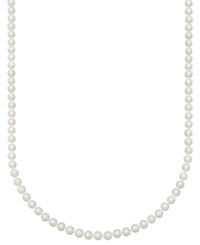 Belle De Mer Pearl Necklace 18' 14K Gold Aa Akoya Cultured Pearl Strand 6 1 2 7Mm