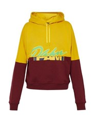 P.A.M. S.Loops Halfway Contrast Panel Cotton Sweatshirt Yellow Multi