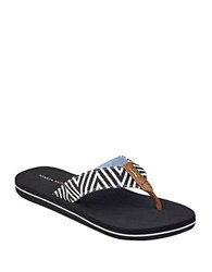 Tommy Hilfiger Cawthr Open Back Thong Sandals Black