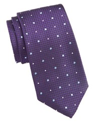 Vince Camuto Textured Dot Silk Tie Purple