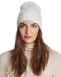 Aqua Floral Knit Hat 100 Exclusive Ivory