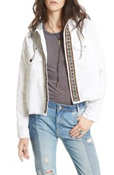 Free People Women's Weekend Wanderer Military Jacket White