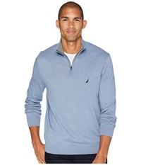 Nautica 12 Gauge 1 4 Zip Sweater Deep Anchor Heather Blue