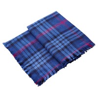 Joules Heyford Soft Oversized Check Scarf Navy