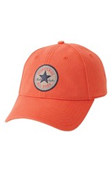 Men's Converse 'Core' Twill Ball Cap Orange My Van Is On Fire