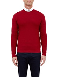 Ted Baker T For Tall Marlntt Ribbed Crew Neck Jumper Red