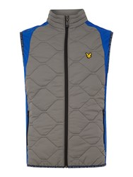 Lyle And Scott Men's Golf Irvine Quilted Gilet Slate