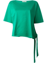 Yves Saint Laurent Vintage Tie Detail T Shirt Green