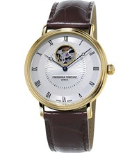 Frederique Constant Fc315m4p5 Heart Beat Gold Plated And Leather Automatic Watch