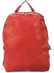 Guidi Minimal Backpack Red