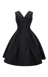 Zac Posen Silk Faille Cocktail Dress Navy