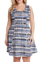 Plus Size Women's Karen Kane Tie Dye Fit And Flare Dress