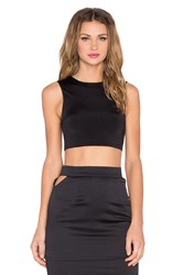 Rise Blessed Cut Out Crop Top Black