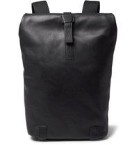 Brooks England Pickwick Small Leather Backpack Black