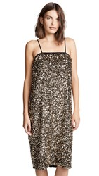 Loyd Ford Sequin Cami Dress Gold