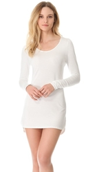 Splendid Essential Long Sleeve Nightgown White