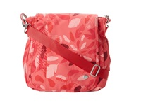 Haiku Wander Coral Feather Print Bags Red