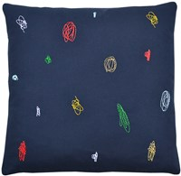 K Studio Scribbles Pillow Gray