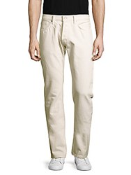 Tom Ford Straight Fit Cotton Pants White
